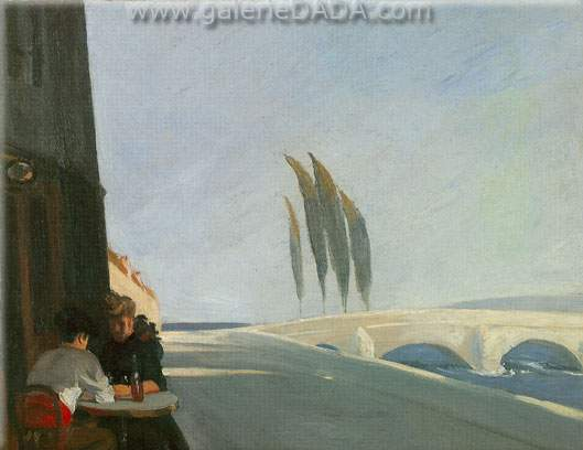 Edward Hopper, Le Bistro Fine Art Reproduction Oil Painting