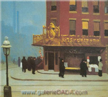 Edward Hopper, New York Corner Fine Art Reproduction Oil Painting