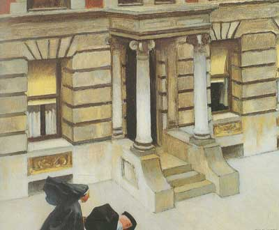 Edward Hopper, New York Pavements Fine Art Reproduction Oil Painting