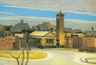 Edward Hopper, November, Washington Square Fine Art Reproduction Oil Painting