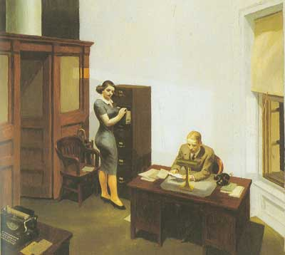 Edward Hopper, Office at Night Fine Art Reproduction Oil Painting