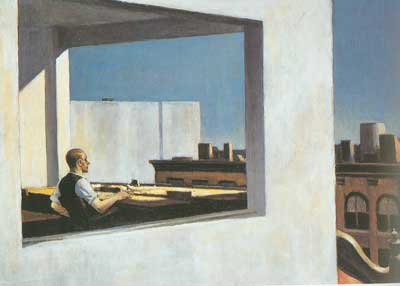 Edward Hopper, Office in a Small City Fine Art Reproduction Oil Painting