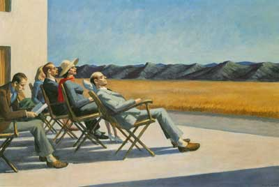Edward Hopper, People in the Sun Fine Art Reproduction Oil Painting