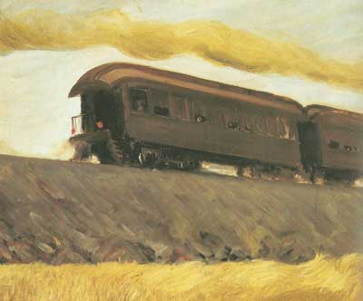 Edward Hopper, Railroad Train Fine Art Reproduction Oil Painting