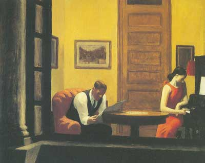Edward Hopper, Room in New York Fine Art Reproduction Oil Painting