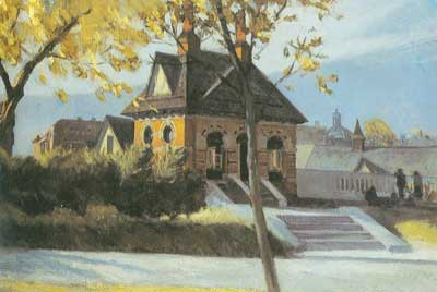 Edward Hopper, Small Town Station Fine Art Reproduction Oil Painting