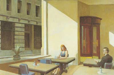 Edward Hopper, Sunlight in a Cafeteria Fine Art Reproduction Oil Painting