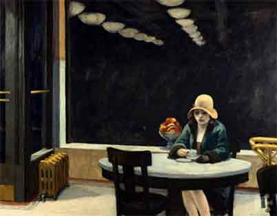 Edward Hopper, The Automat Fine Art Reproduction Oil Painting