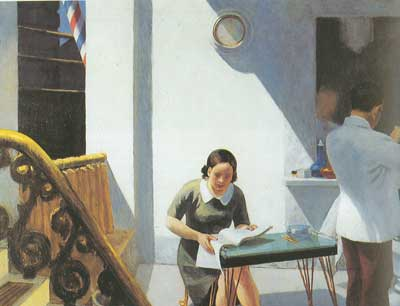 Edward Hopper, The Barber Shop Fine Art Reproduction Oil Painting