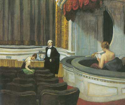 Edward Hopper, Two on the Aisle Fine Art Reproduction Oil Painting