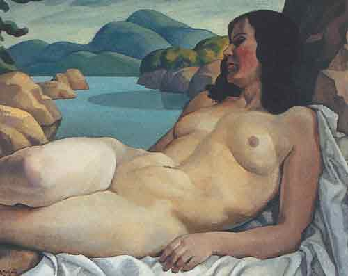 Edwin H. Holgate, Nude in a Landscape Fine Art Reproduction Oil Painting