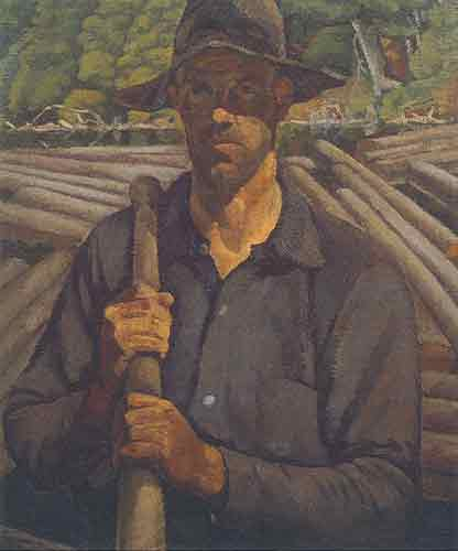 Edwin H. Holgate, The Lumberjack Fine Art Reproduction Oil Painting