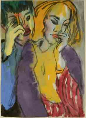 Emil Nolde, Brother and Sister Fine Art Reproduction Oil Painting