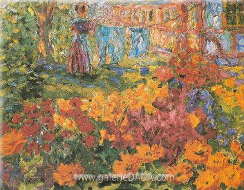 Emil Nolde, Flower Garden Fine Art Reproduction Oil Painting