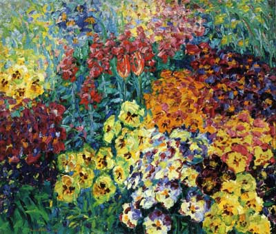 Emil Nolde, Flower Garden: Pansies Fine Art Reproduction Oil Painting