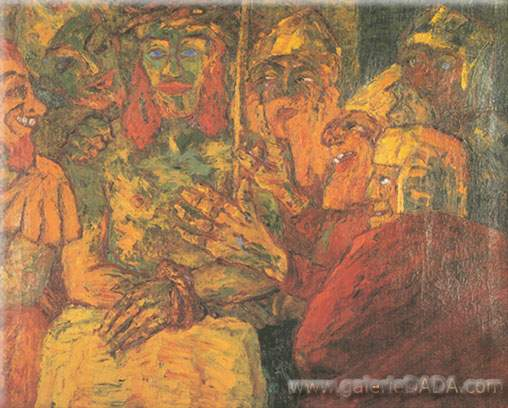 Emil Nolde, Mocking of Christ Fine Art Reproduction Oil Painting
