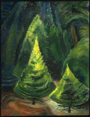 Emily Carr, Trees, No. 1 Fine Art Reproduction Oil Painting