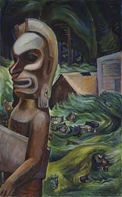 Emily Carr, Zunoqua of the Cat Village Fine Art Reproduction Oil Painting