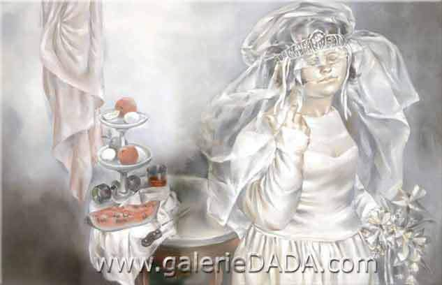 Enrique Grau, The Big Bride Fine Art Reproduction Oil Painting