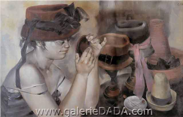 Enrique Grau, The Milliner Fine Art Reproduction Oil Painting