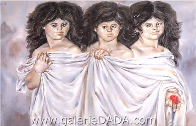 Enrique Grau, The Three Graces Fine Art Reproduction Oil Painting