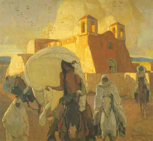 Ernest L. Blumenschein, Church at Ranchos de Taos Fine Art Reproduction Oil Painting