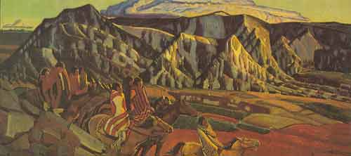 Ernest L. Blumenschein, Indians in the Mountains Fine Art Reproduction Oil Painting