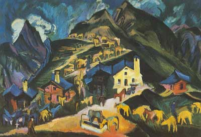 Ernst Ludwig Kirchner, Ascending the Alps Fine Art Reproduction Oil Painting