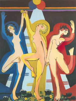 Ernst Ludwig Kirchner, Color Dance II Fine Art Reproduction Oil Painting