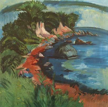 Ernst Ludwig Kirchner, Fehmarn Coast Fine Art Reproduction Oil Painting