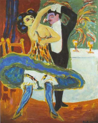 Ernst Ludwig Kirchner, Variety; English Dancers Fine Art Reproduction Oil Painting