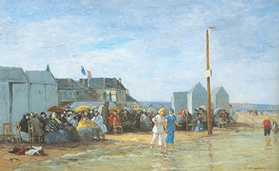 Eugene Boudin, The Bathing Hour Trouville Fine Art Reproduction Oil Painting