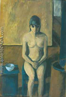 Felice Casorati, Nude Fine Art Reproduction Oil Painting