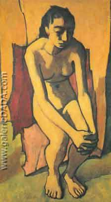 Felice Casorati, Woman Fine Art Reproduction Oil Painting