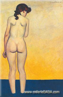 Felix Vallotton, Adolescent Entering the Water Fine Art Reproduction Oil Painting