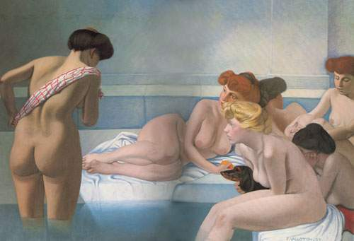 Felix Vallotton, The Turkish Bath Fine Art Reproduction Oil Painting
