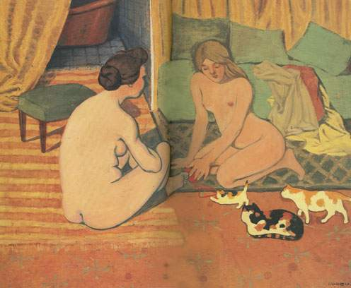 Felix Vallotton, Women with Cats Fine Art Reproduction Oil Painting