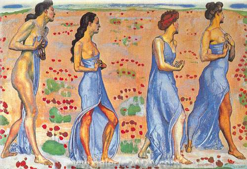 Ferdinand Hodler, Emotion Fine Art Reproduction Oil Painting