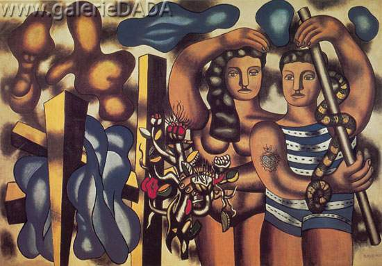 Fernand Leger, Adam and Eve Fine Art Reproduction Oil Painting
