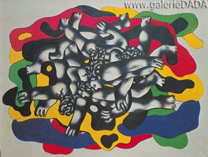 Fernand Leger, The Divers II Fine Art Reproduction Oil Painting