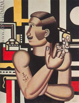 Fernand Leger, The Mechanic Fine Art Reproduction Oil Painting