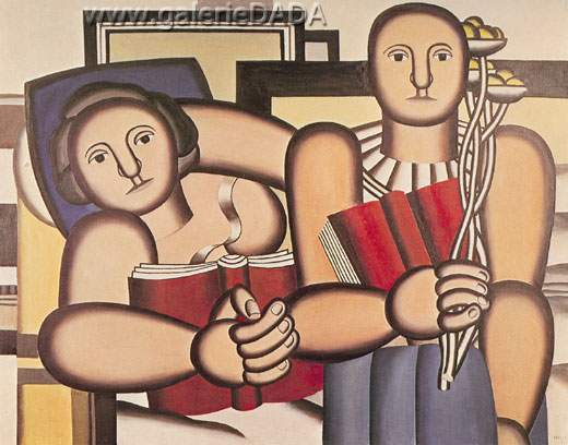 Fernand Leger, The Readers Fine Art Reproduction Oil Painting