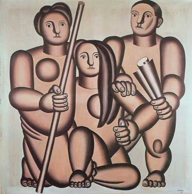 Fernand Leger, Three Figures Fine Art Reproduction Oil Painting