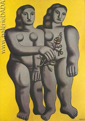 Fernand Leger, Two Sisters Fine Art Reproduction Oil Painting