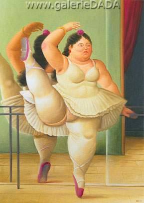 Fernando Botero, Dancer at the Pole Fine Art Reproduction Oil Painting