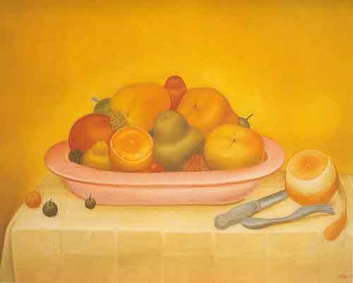 Fernando Botero, Frutas Fine Art Reproduction Oil Painting