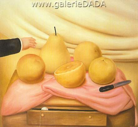 Fernando Botero, Still Life with Fruits Fine Art Reproduction Oil Painting