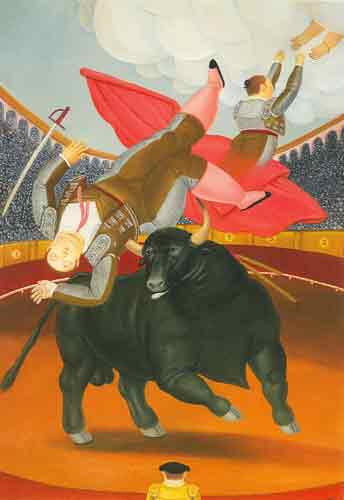 Fernando Botero, The Death of Luis Chaleta Fine Art Reproduction Oil Painting