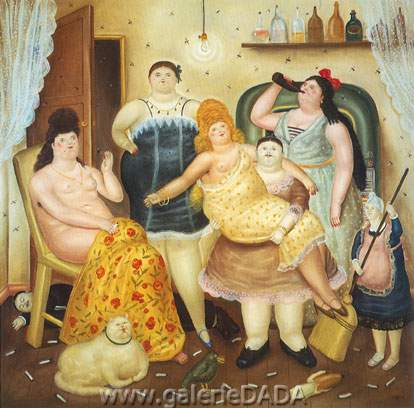 Fernando Botero, The House of Madrique Fine Art Reproduction Oil Painting