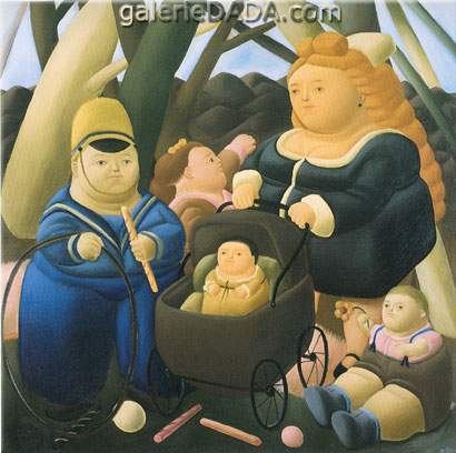 Fernando Botero, The Rich Children Fine Art Reproduction Oil Painting